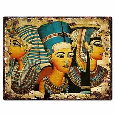 PP0799 Egyptian Painting Chic Plate Sign Home Store Shop Restaurant Cafe Decor