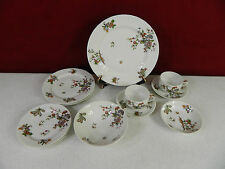 11 Piece Haviland Schleiger 684 Bird Pattern With No Trim  Dinnerware Set