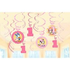 12 Disney Baby Minnie Mouse 1st Birthday Party Swirls Dangling Cutouts