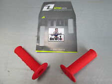 One Industries Atom motocross enduro mx grips soft half waffle red GSHR