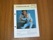 Vintage Knitting Babies & Toddlers Pattern, Scandinavian Baby suit, 86