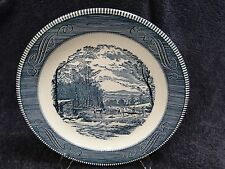 """Currier Ives Royal China Chop Plate """"Getting Ice"""" 12 3/8"""""""