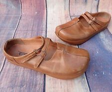 KALSO EARTH KHARMA Camel Brown Dual Strap Women's Slip-On Mule size 7.5 or 37.5