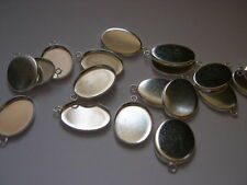 Qty 5 - 18mm x 13mm Oval Cabochon Blanks / Pads - Silver Plated Nickel Free