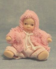 Dolls House Dolls: Porcelain Baby Girl Doll  12th scale