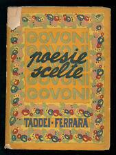 GOVONI CORRADO POESIE SCELTE (1903-1918) NUOVA EDIZIONE RIVEDUTA TADDEI 1920