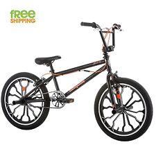 """Mongoose BMX Bike Kid 20"""" Boy Freestyle Peg Bicycle Aluminum Weels Black New!"""