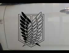 Attack On Titan Wing of Liberty Car Door Sticker Vinyl Decal Anime 20cm
