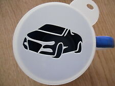 Laser cut sports car coffee and craft stencil