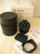 Leica Summicron-M 35mm F2 ASPH Lens (Mint) 11879 with box & all papers