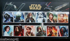 NEW ITEM UK STAR WARS Character Stamp Set MNH 2015 Available now