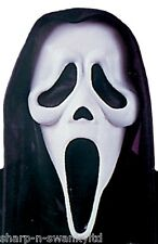 Ladies Mens Ghostface Scream Halloween Face Mask Fancy Dress Costume Accessory