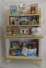 Dolls house miniatures: 1:12 scale tea cabinet by Lorraine Scuderi