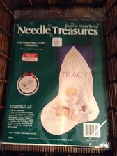 Needle Treasures The Christmas Story Stocking Counted Cross Stitch Kit NEW NIP