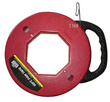50 Foot Fish Tape Wire Cable Puller Threader Electrician Electrical Plumber NEW