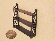 Dollhouse Miniatures  1:24 scale Mahogany Chippendale wall self - Artist Made