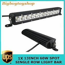 "13""60W EPISTAR LED Work Light Bar Spot Beam Single Row Driving Lamp Offroad Jeep"