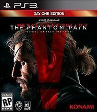 PS3 Metal Gear V The Phantom Pain Day One Edition SEALED NEW Free Shipping