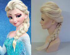 Luxus-Mode Frozen Elsa Disney Perruque Longue Damen  Mode Perücken Haarteile Wig