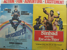 SUPERSNOOPER/SINBAD & THE EYE OF THE TIGER(1980) Rare UK cinema poster