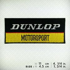 DUNLOP EMBROIDERED PATCH IRON ON, SEW, Motorsport Super Control Victory Winner