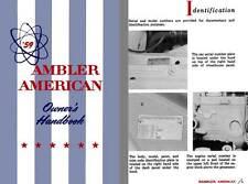 AMC 1959 - '59 Rambler American Owners Handbook