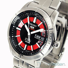 SEIKO 5 SPORTS MEN'S AUTO BLACK & RED  FACE SRP339J1