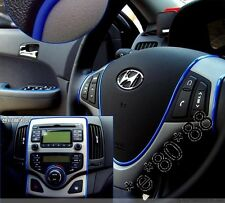 Blue FLEXIBLE TRIM FOR CAR INTERIOR EXTERIOR MOULDING STRIP DECORATIVE 5m