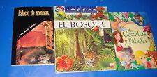 Tres libros -PALACIO DE SOMBRAS-EL BOSQUE-MIS CUENTOS Y FABULAS