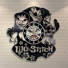Disney LILO And Stitch Elvis Vinyl Clock