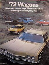 Chevrolet Wagons Original Sales Brochure 1972 Chevelle Vega Sportvan Kingwood