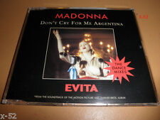 MADONNA single DONT CRY FOR ME ARGENTINA evita 4 track CD DANCE MIX splanglish
