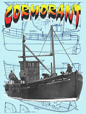 Build model boat for R/C 1:24 Scale Trawler Full Size Printed PLANS & Article