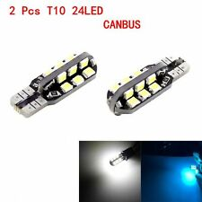 2 Pcs T10 W5W 12V 24SMD 2835 5000K Auto LED Bulbs Lamp Canbus Wedge Side Lights
