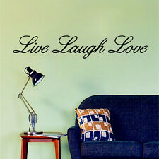 Live Laugh Love Wall Art Sticker Quote Vinyl Decal Home Decor Mural transfers
