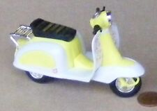 Yellow & White Plastic & Metal Scooter Dolls House Miniature Garden Accessory