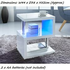 LED lighting Alaska High Gloss Side Table 2 x AA batteries (not included)