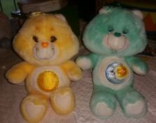 Lot of 2 1983 vintage care bears Funshine bear & Bedtime bear GUC!