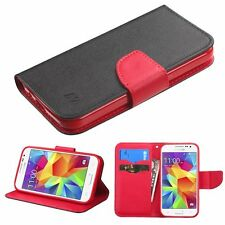 Black Pattern/Red Liner MyJacket Wallet Case For Samsung Galaxy Core Prime G360