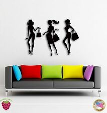 Wall Sticker Girls Go Shopping Fashion Models Cool Decor For Living Room  z1446