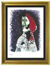 """Pablo Picasso Signed & Hand-Numbered Ltd Edition """"Bullfighter II """" Litho Print"""