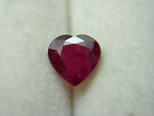 very rare Natural Ruby gem High Quality Heart Mgok Brma Blood Red FLUORESCENT