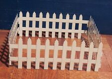 Multi Scale Four Pieces White Metal Mini Folding Picket Fence 32'' long!