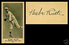 LOT of 25 REPRINT 1916 M101-5 BABE RUTH Rookie Cards Blank Back with AUTO