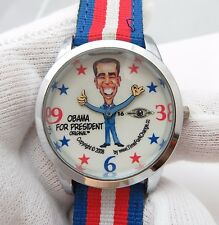 "BARACK OBAMA ,""For President"" 2008 Dial,,RARE! MEN'S WATCH,1718,L@@K"