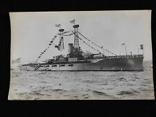 VINTAGE BLACK & WHITE PHOTOGRAPH OF USS NORTH DAKOTA (BB-29)