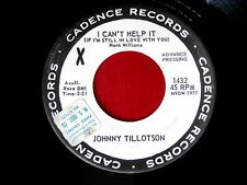 JOHNNY TILLOTSON~I CAN'T HELP IT~PROMO~I'M SO LONESOME I COULD CRY~~ TEEN 45