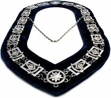 REGALIA MASONIC PAST MASTER SILVER METAL CHAIN COLLAR DMR-200SB !!!!!