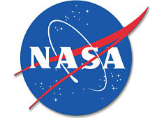 4x4 inch NASA Meatball Logo Shaped Sticker - space astronomy science decal nerd