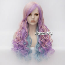 65CM Lolita Multi-Color Party Long Curly Ombre Synthetic Women Cosplay Hair Wig